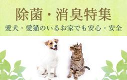 除菌・消臭特集 愛犬・愛猫のいるお家でも安心・安全